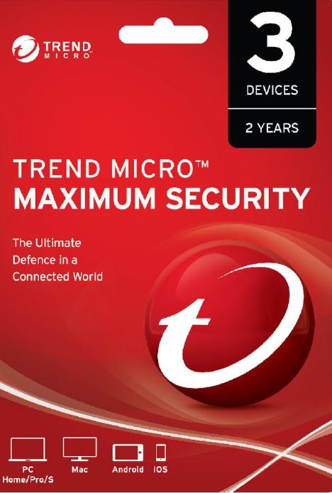 Trend Micro Maximum Security 3 PC 2 Years Key Global