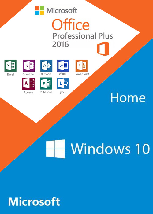 Windows10 Home + Office2016 Professional Plus CD Keys Pack