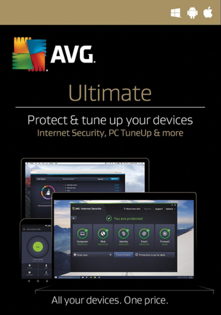 AVG Ultimate 2017 Unlimited Devices 1 YEAR Global