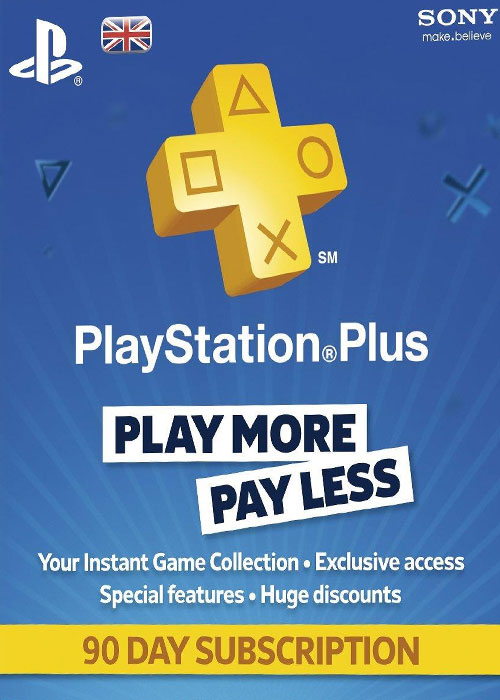 Playstation Plus 90 Days UK