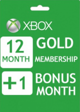 Official Xbox Live 12+1 Months Gold Membership Card Global